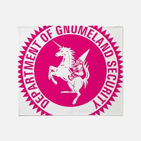 GNOMELAND SECURITYhot pink Throw Blanket