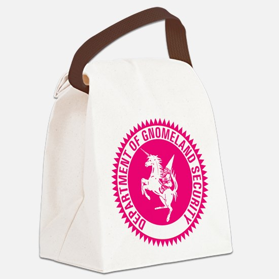 GNOMELAND SECURITYhot pink Canvas Lunch Bag