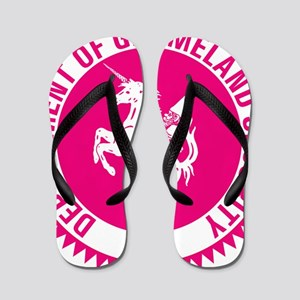 GNOMELAND SECURITYhot pink Flip Flops