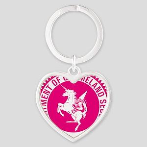 GNOMELAND SECURITYhot pink Heart Keychain