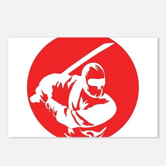 Funny Ninja Postcards (Package of 8)