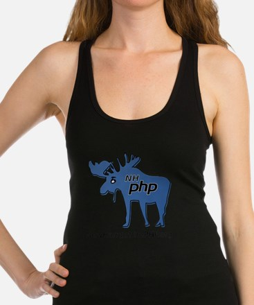 New Hampshire PHP Moose Logo wi Racerback Tank Top