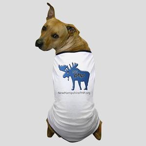 New Hampshire PHP Moose Logo with Web  Dog T-Shirt