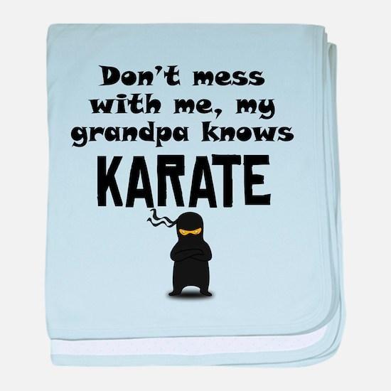 My Grandpa Knows Karate baby blanket