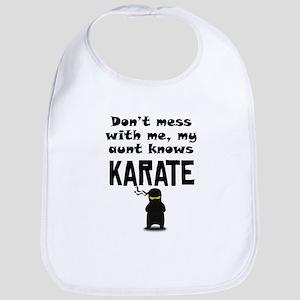 My Aunt Knows Karate Bib