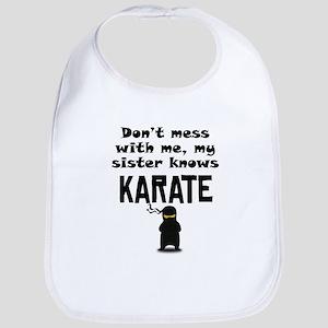 My Sister Knows Karate Bib