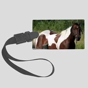 Horse with bird Large Luggage Tag