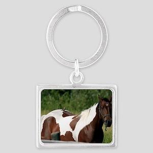 Horse with bird Landscape Keychain