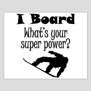 I Board (Snowboard) What's Your Super Power? Poste