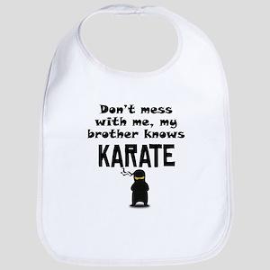 My Brother Knows Karate Bib