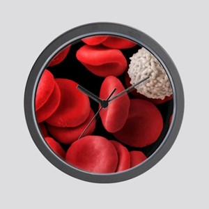 Red and white blood cells, SEM Wall Clock