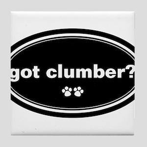 Got Clumber? Tile Coaster