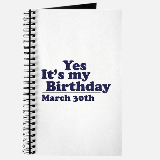 March 30 Birthday Journal