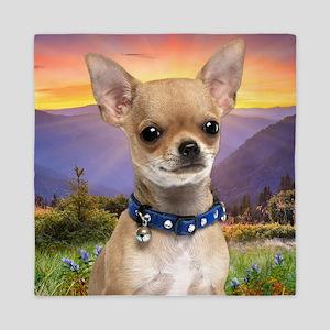 Chihuahua Meadow (blanket) Queen Duvet