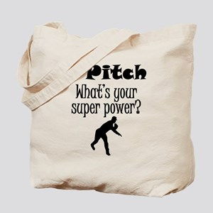 I Pitch (Baseball) What's Your Super Power? Tote B