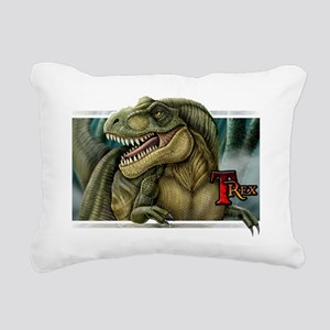 trex2_wtext Rectangular Canvas Pillow