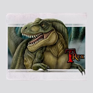 trex2_wtext Throw Blanket