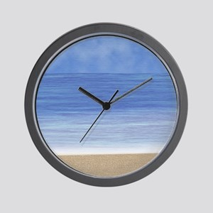 Blue Ocean Beach Wall Clock