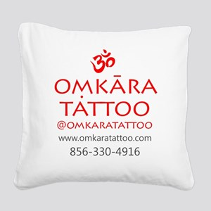 Omkara Tattoo Type Square Canvas Pillow