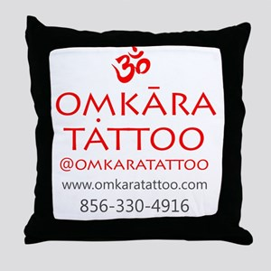 Omkara Tattoo Type Throw Pillow