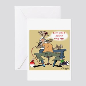 Born to be a Sound Engineer Greeting Card