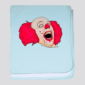 halloween evil clown baby blanket