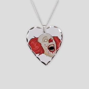 halloween evil clown Necklace Heart Charm