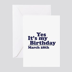 28th birthday greeting cards cafepress march 28 birthday greeting cards pk of 10 bookmarktalkfo Gallery