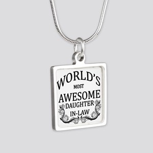 World's Most Awesome Daughter-In-Law Silver Square
