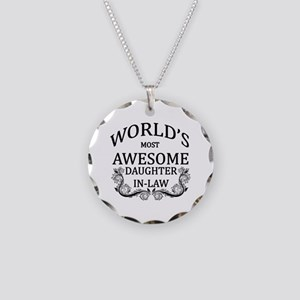 World's Most Awesome Daughter-In-Law Necklace Circ