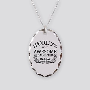 World's Most Awesome Daughter-In-Law Necklace Oval