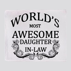 World's Most Awesome Daughter-In-Law Throw Blanket