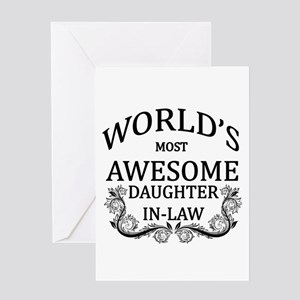 World's Most Awesome Daughter-In-Law Greeting Card