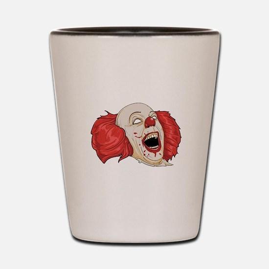 halloween evil clown Shot Glass