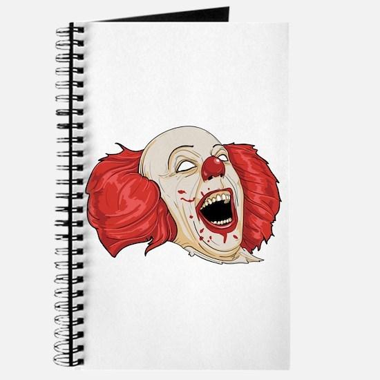 halloween evil clown Journal