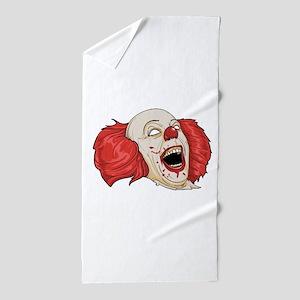 halloween evil clown Beach Towel
