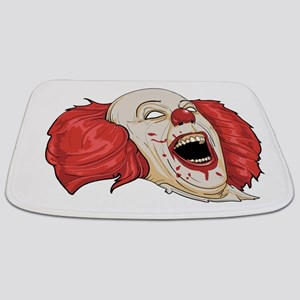 halloween evil clown Bathmat