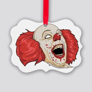 halloween evil clown Picture Ornament