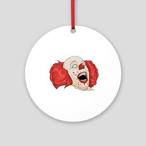 halloween evil clown Round Ornament