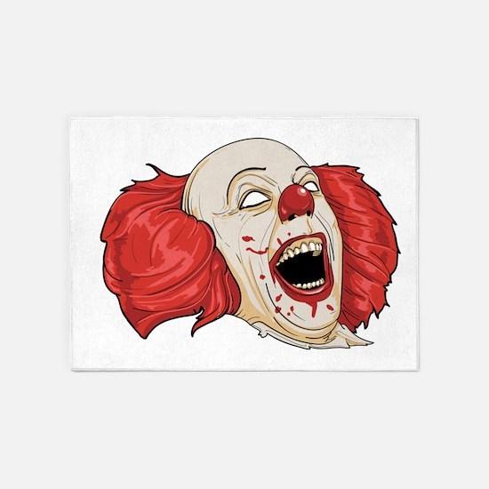 halloween evil clown 5'x7'Area Rug