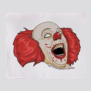 halloween evil clown Throw Blanket