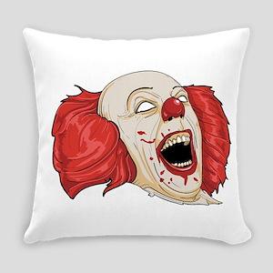 halloween evil clown Everyday Pillow