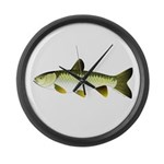 Grass Carp Large Wall Clock