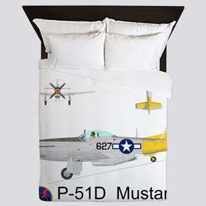 P-51 Mustang 462nd Fighter Squadron Queen Duvet
