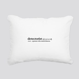 Metal Detectorist Rectangular Canvas Pillow