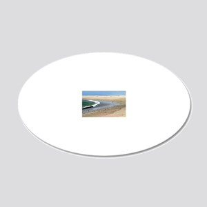 Beach Birds 20x12 Oval Wall Decal