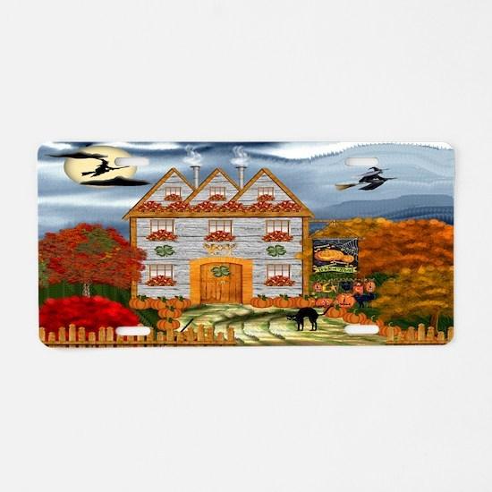 Samhain Cottage Aluminum License Plate