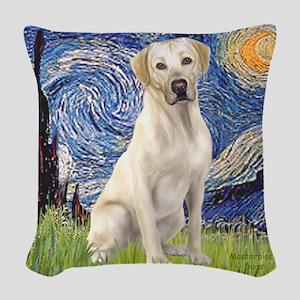StarryNight (T) - YellowLab7 Woven Throw Pillow
