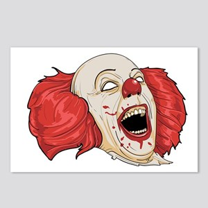 halloween evil clown Postcards (Package of 8)