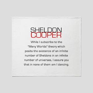Sheldon Cooper's Many Worlds Quote Throw Blanket